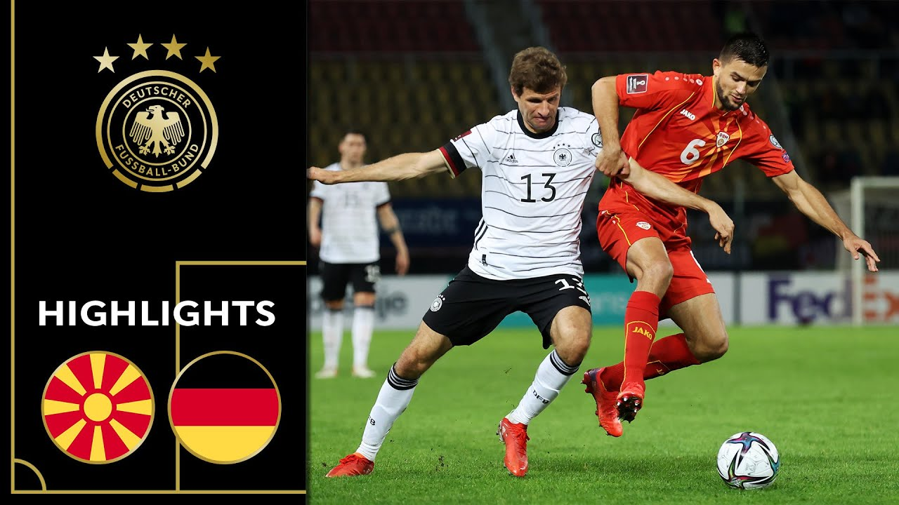 Download Germany saves ticket for Worldcup   North Macedonia - Germany 0-4   Highlights   Worldcup Qualifier