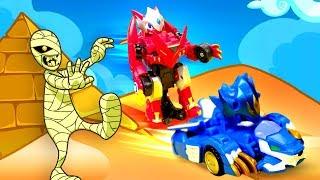 Видео для детей — Лео и Драка собирают монеты. Игры гонки и машины трансформеры