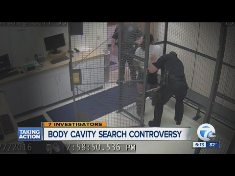 Body cavity search controversy