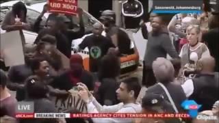 BLF disrupts protest outside Gupta compound