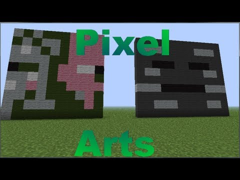 Minecraft - Pixel Arts #5 Pigman Zombie y Wither Skeleton ...