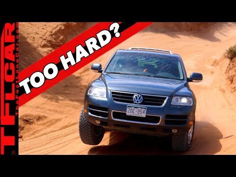 Is The VW Touareg the Ultimate OFF-ROAD SLEEPER?  We Claw Our Way Up Moab's Slick Rock to Find Out!