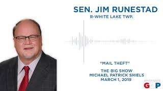 Sen. Runestad discusses mail theft legislation on The Big Show