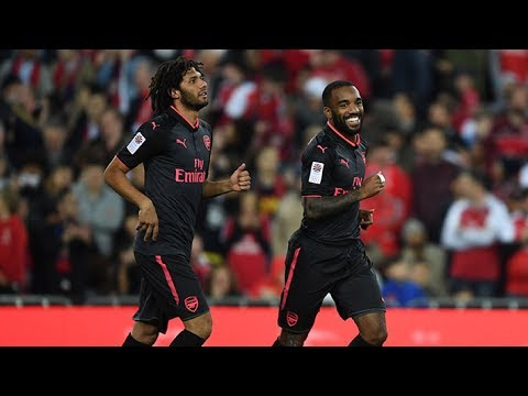 Alexandre Lacazette's first Arsenal goal | Arsenal Tour 2017