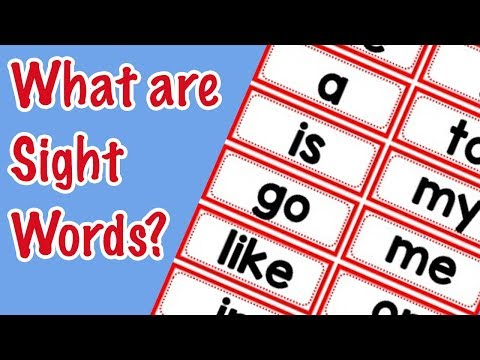 So Why Do Kids Learn Sight Words