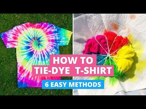 How to Tie-Dye T-Shirts: 6 Easy Methods DIY