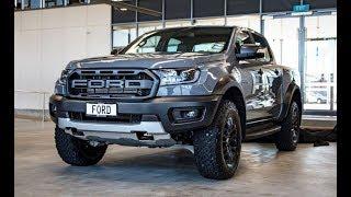 หล่อบาดใจ! Ford Ranger Raptor สีเทา พวงมาลัยขวา โผล่ที่นิวซีแลนด์ เผยภาพภายในชัดเจน