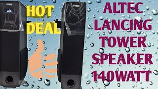 Altec Lansing AL-4005 with Karaoke 140 W Tower Speaker detail review and soundtest