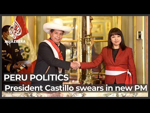 Peru's President Castillo swears in new prime minister
