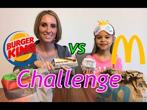 Challenge   McDonalds vs Burger King