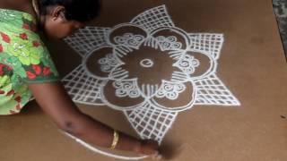 அடுக்கு பூ ரங்கோலி கோலம் | தமிழ் கோலங்கள்| tamil kolam