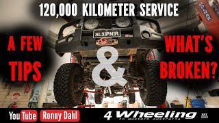 landcruiser service 120 000km whats broken