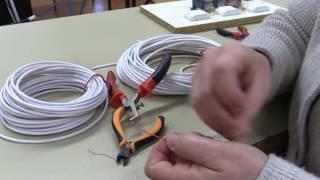 Preparation cables alarme