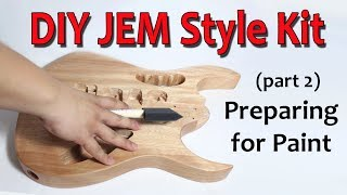 DIY JEM Style Guitar Kit (Part 2: Preparing for Paint)