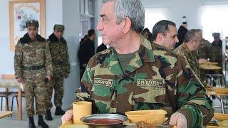 Սերժ Սարգսյանն   աշխատանքային այցով մեկնել է Հայաստանի Հանրապետության հարավարևելյան զորամասերից մեկը
