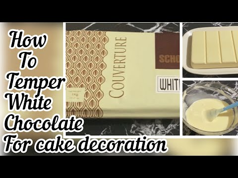 COUVERTURE CHOCOLATE /HOW TO MELT WHITE CHOCOLATE /tempering chocolate decoration #couverturemelt