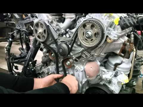 2006-2014 Honda Ridgeline Timing Marks Diagram (3.5 L J35 Engine)Engine Parts Diagram