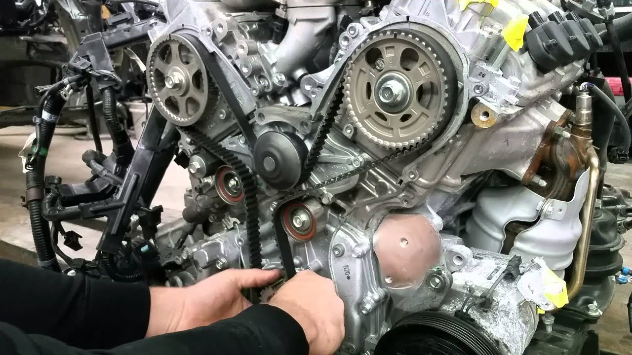 setting up timing belt on honda acura 3 2l 3 5l 3 7l j