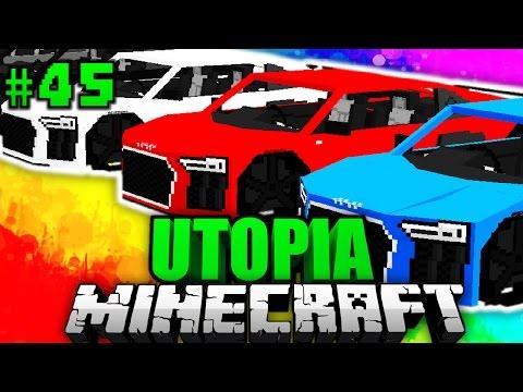 Ein BRANDNEUER AUDI R8?! - Minecraft Utopia #045 [Deutsch/HD]