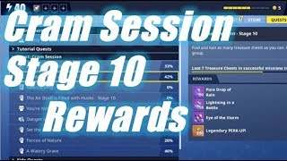 Cram Session Stage 10 Rewards / Fortnite Save the World