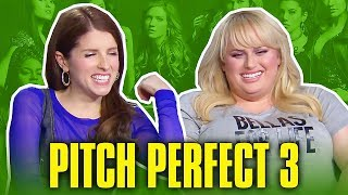 Pitch Perfect 3 Cast Does Celebrity Impressions - Cute & Funny Moments 2017