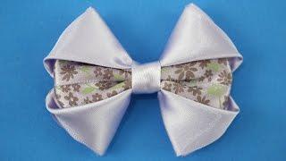 Passo a passo: Laço de fita de cetim/ DIY Satin ribbon