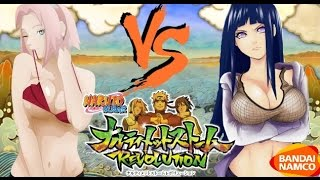 Naruto Ultimate Ninja Storm Revolution: Hinata vs Sakura Bikini DLC Gameplay - Summer Outfits