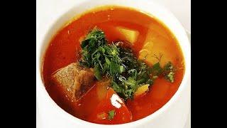 Бозбаш, томатный суп с бараниной в казане на огне