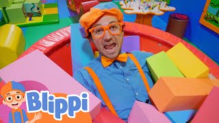 Blippi Visits The Funtastic Playtorium Kids Indoor Playground | Educational Videos For Kids