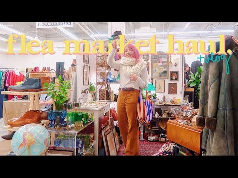 Come To The Brooklyn Flea Market With Me! Vintage Haul & Vlog