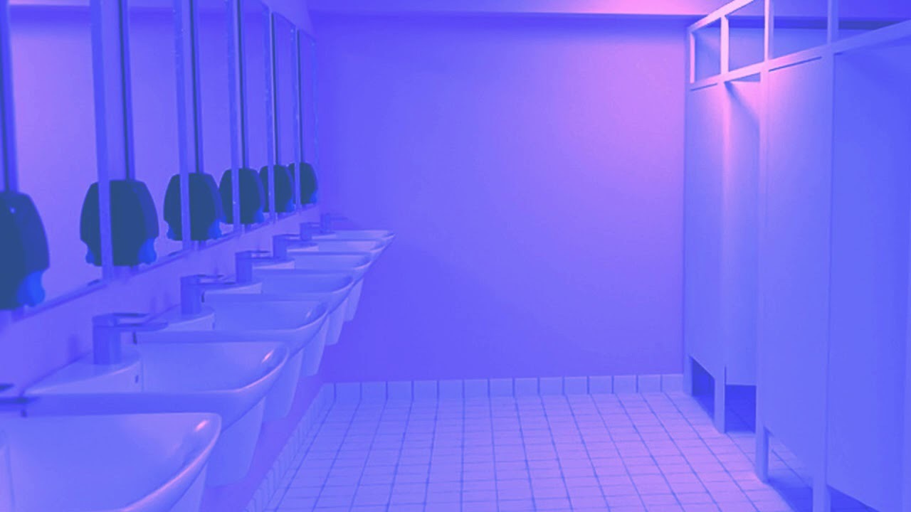 you're in a bathroom at a 1999 party