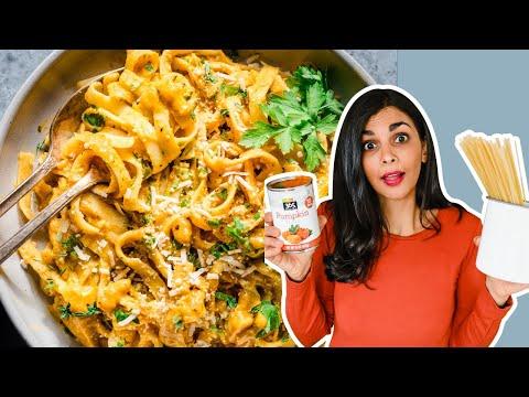 ONE-POT VEGAN PUMPKIN ALFREDO | the best pumpkin pasta