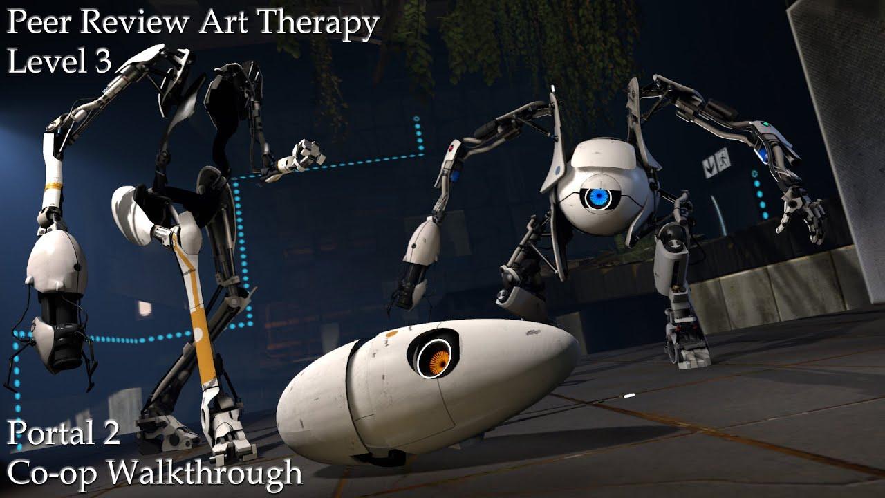 Portal 2 Co-op Walkthrough: Peer Review Art Therapy Level 3