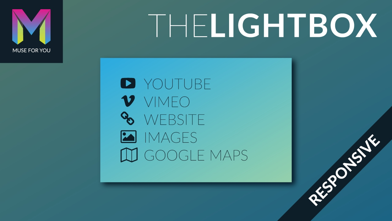 How to Add a Responsive Lightbox in Adobe Muse - Tutorial