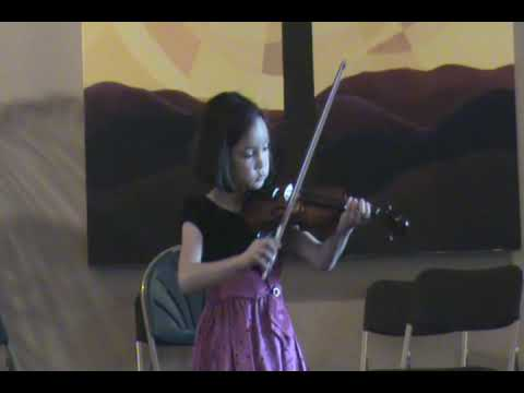 Sophia Plays Bach Minuet No. 2