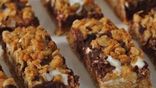S'more Granola Bars Recipe Demonstration - Joyofbaking.com