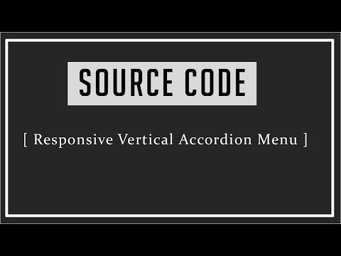 Responsive Vertical Accordion Menu ( Source Code )