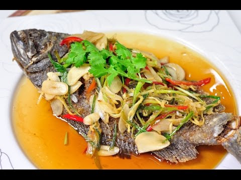 Thai Food – Deep Fried Fish with Soy Sauce