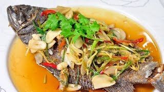 Thai Food - Deep Fried Fish With Soy Sauce