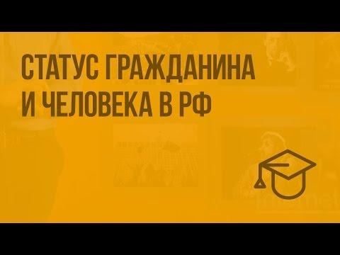 Статус гражданина и человека в РФ