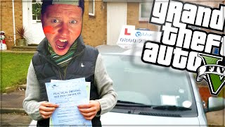 One of Beh2inga's most viewed videos: MY DRIVING TEST! (GTA 5 Funny Moments Skit)