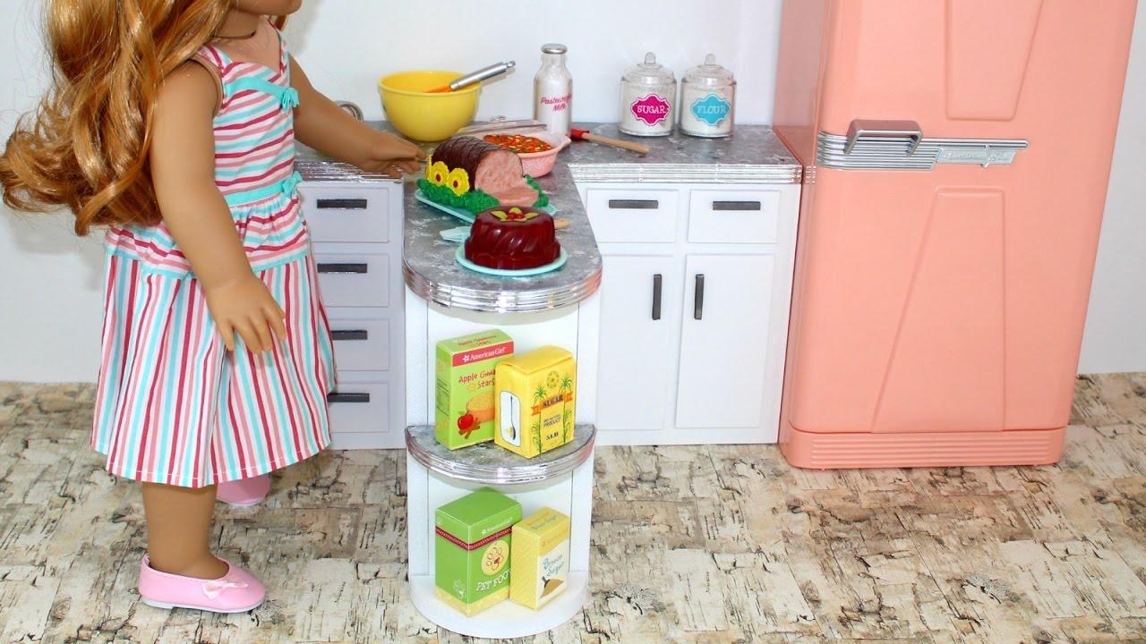 DIY American Girl Doll Kitchen Counter - YouTube