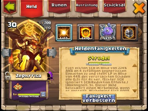 MAXED OUT ZEPHYRICA IM TEST! CASTLE CLASH