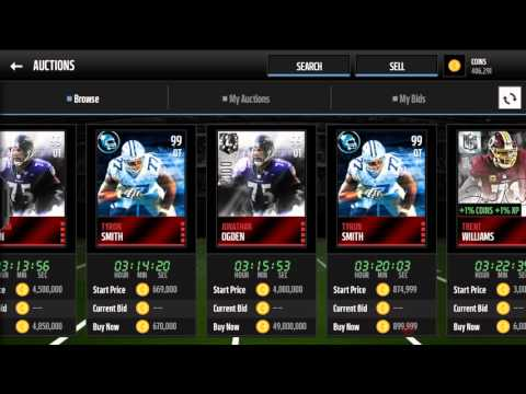 Madden Mobile- GT'S Marcus Peters and AP, UL's Deacon Jones and Ogden
