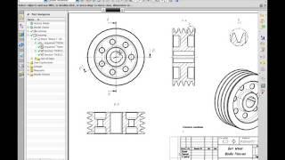 NX CAD Създаване на изгледи, разрези и сечения в чертожна документация