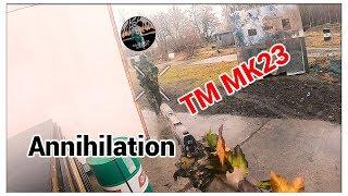 Ghillie SNIPER with TM Mk23 ANNIHILATE enemies behind enemy lines