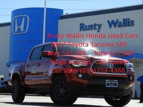 2017 Toyota Tacoma SR5 at Rusty Wallis Honda Used Cars(214)723-4366