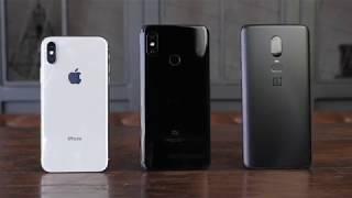 Обзор Xiaomi mi 8. Сравнение с OnePlus 6 и iPhone X