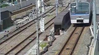 [警笛あり?]相鉄 8000系8711F急行 西谷駅付近通過
