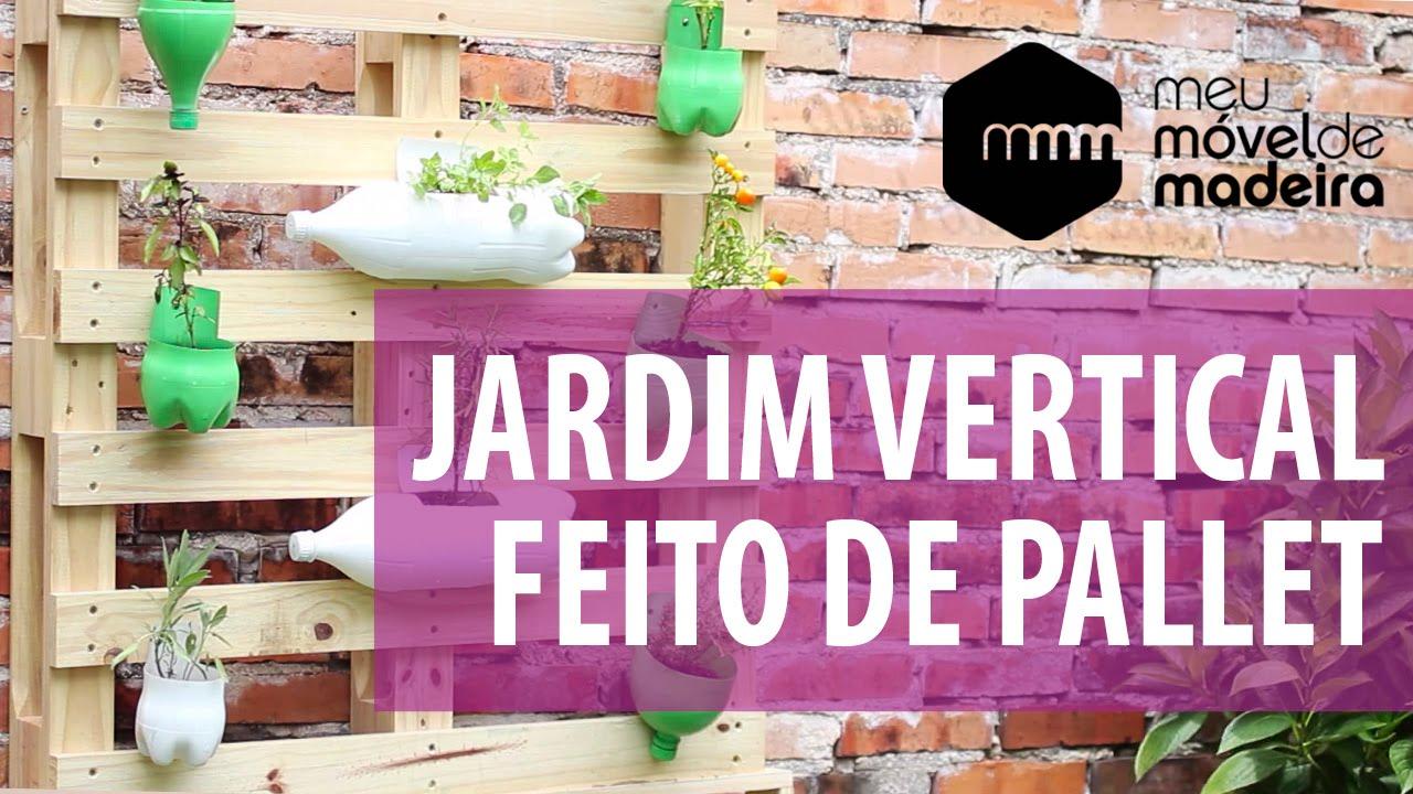 jardim vertical latas:Faça você mesma: um jardim vertical de Pallet! – YouTube